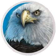 American Eagle Round Beach Towel