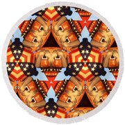 American Elections 2016 Round Beach Towel