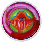 American Evangelical Round Beach Towel