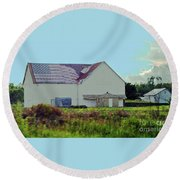 American Farm Round Beach Towel