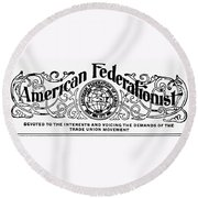 American Federationist Round Beach Towel