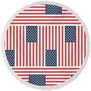 American Flag Round Beach Towel