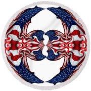 American Flag Polar Coordinate Abstract 1 Round Beach Towel