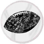 American Football-black Round Beach Towel