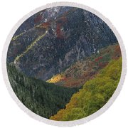 American Fork Canyon Round Beach Towel