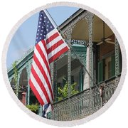 American French Quarter Round Beach Towel