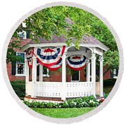 American Gazebo Round Beach Towel