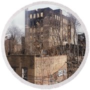 American Ghetto - The South Bronx In New York City Round Beach Towel