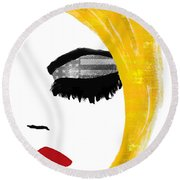 American Girl Round Beach Towel by Mindy Sommers