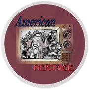 American Heritage Round Beach Towel