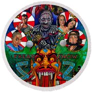 American Horror Story Freak Show Round Beach Towel