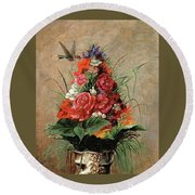 American Impressionist Painter Round Beach Towel