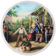 American Independence 1859 Round Beach Towel