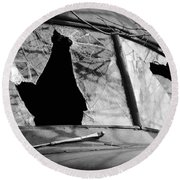 American Outlaw Round Beach Towel