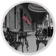 American Past Round Beach Towel