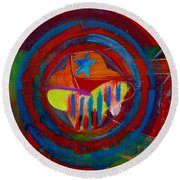 American Pastoral Round Beach Towel
