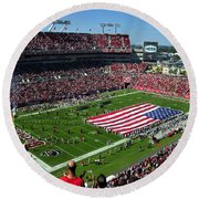 American Pride Bucs Style Round Beach Towel by David Lee Thompson