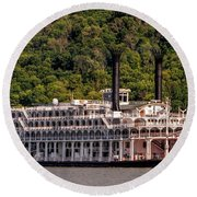 American Queen Riverboat Round Beach Towel