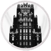 American Radiator Building Round Beach Towel