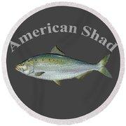 American Shad  Round Beach Towel