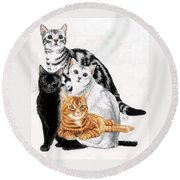 American Shorthair Round Beach Towel