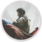 American Sniper 2014 Round Beach Towel