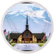 American Soldiers Chapel Round Beach Towel