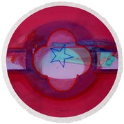 American Star Of The Sea Round Beach Towel