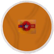 American Sub Decal Round Beach Towel