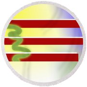 American Tears Round Beach Towel