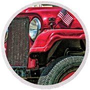 American Willys Round Beach Towel