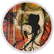 American Witch Round Beach Towel