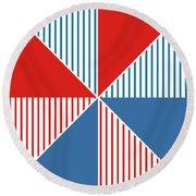 Americana Pinwheel Round Beach Towel