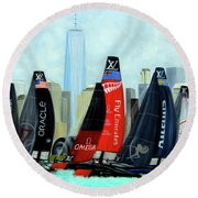 America's Cup New York City Round Beach Towel