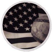 America's Game Round Beach Towel