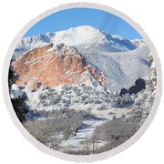 America's Mountain Round Beach Towel