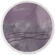 Amethyst 1- Abstract Art By Linda Woods Round Beach Towel