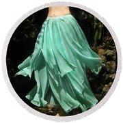 Ameynra Design Aqua-green Chiffon Skirt Round Beach Towel