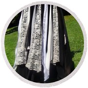 Ameynra Fashion Gothic Skirt With Lace Round Beach Towel