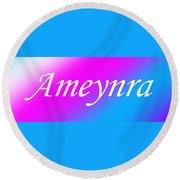 Ameynra - Logo 003 Round Beach Towel