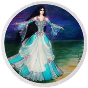 Ameynra. Night Dance Before Wedding Round Beach Towel