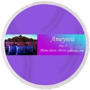Ameynra Shop 19. Promo Banner 3 Round Beach Towel