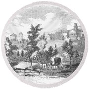 Amherst College, 1855 Round Beach Towel