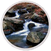 Amicalola Stream Round Beach Towel
