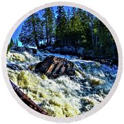 Amincon River Rootbeer Falls Round Beach Towel