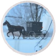 Amish Dreamscape Round Beach Towel by David Arment