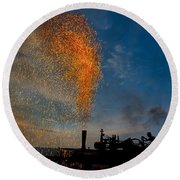 Amish Fireworks Round Beach Towel
