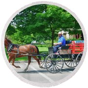 Amish Merchant 5671 Round Beach Towel by Guy Whiteley