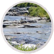 Ammonoosuc Sculptures Round Beach Towel