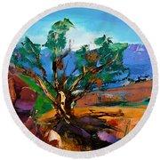 Among The Red Rocks - Sedona Round Beach Towel